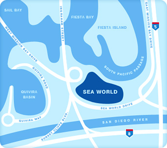 Small SeaWorld area map